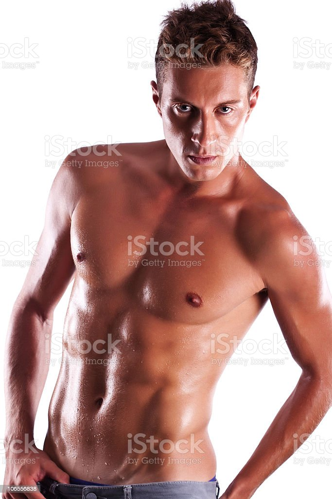 Shirtless male model royalty-free stock photo