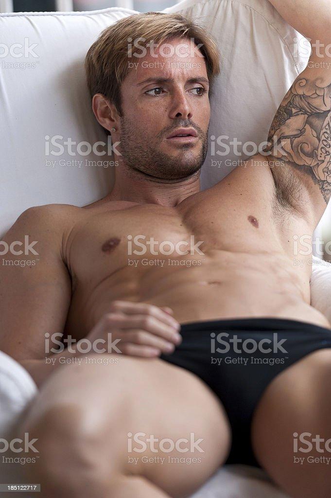 Shirtless Man royalty-free stock photo