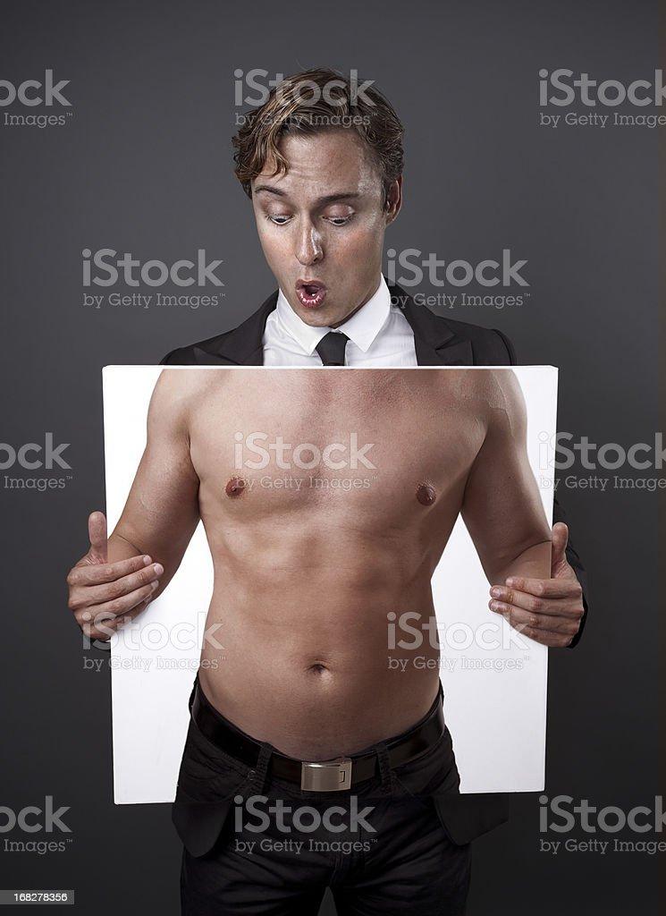 Shirtless royalty-free stock photo
