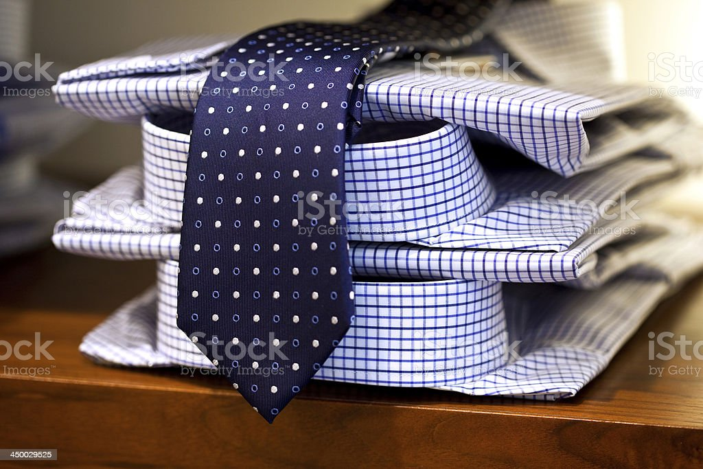 Shirts and tie stock photo