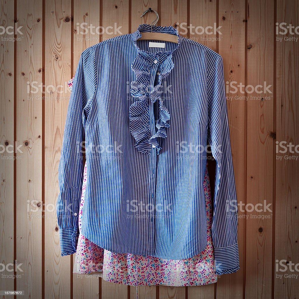 Shirts at the Wardrobe royalty-free stock photo
