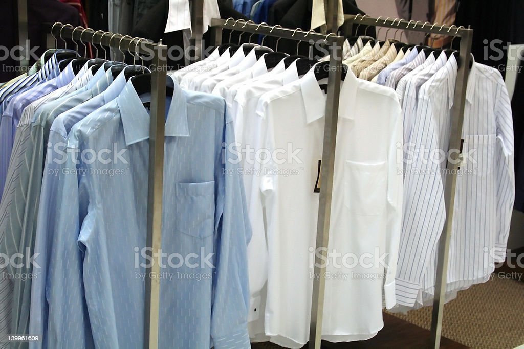 Shirts for sale stock photo