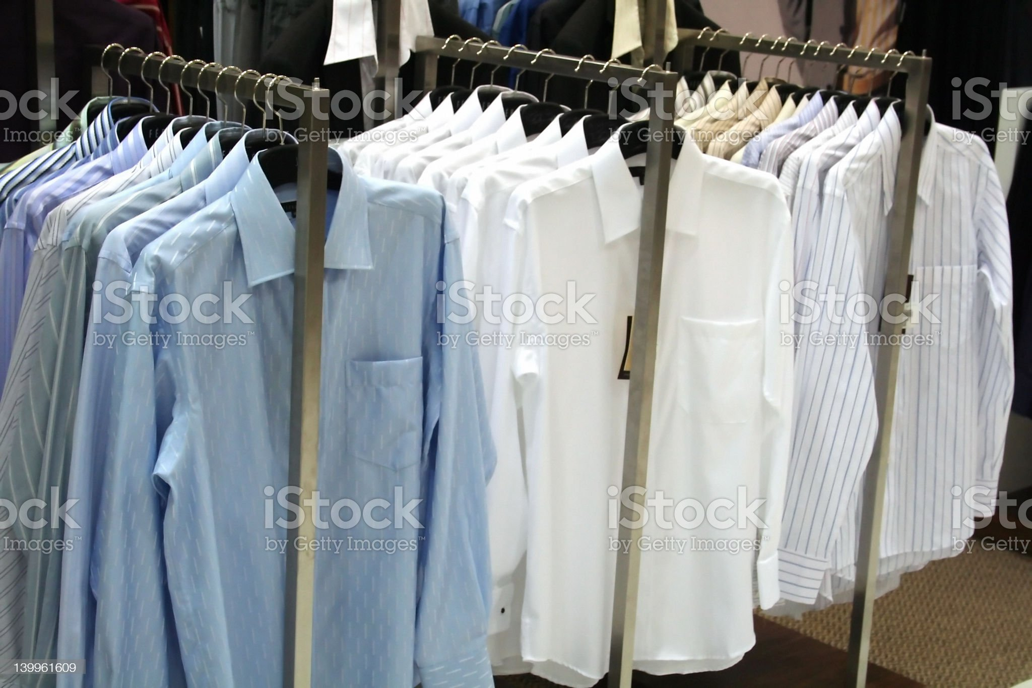 Shirts for sale royalty-free stock photo