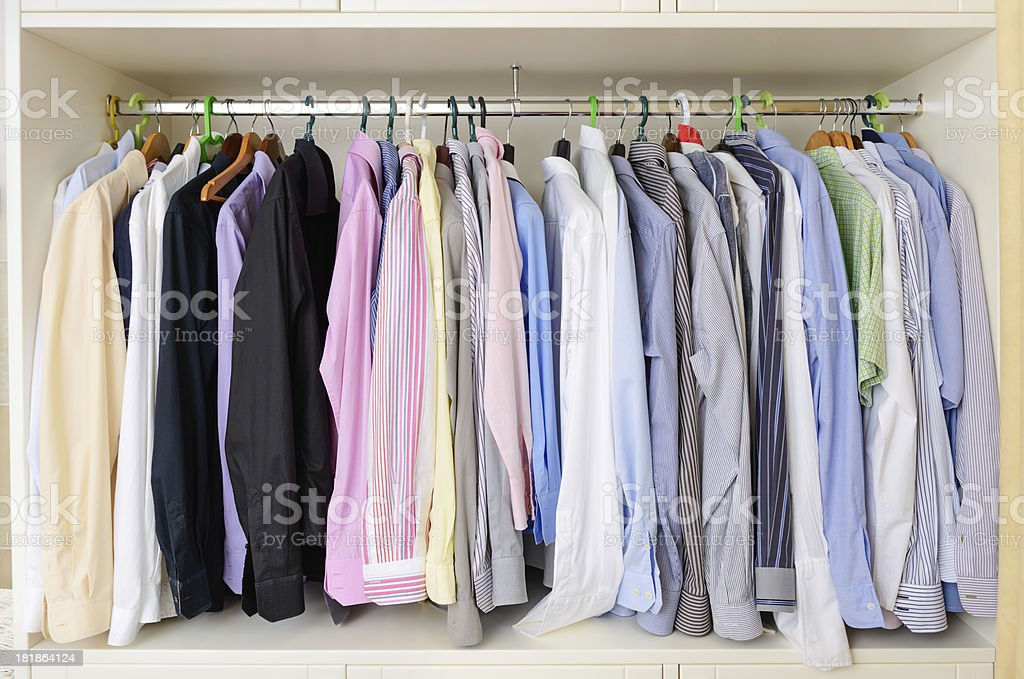 shirts in closet royalty-free stock photo