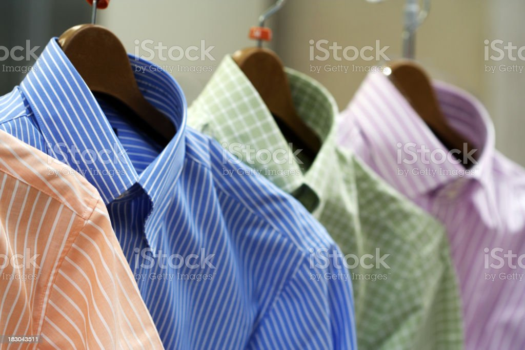 Shirts on the rack - Clothing in Fashion Store royalty-free stock photo