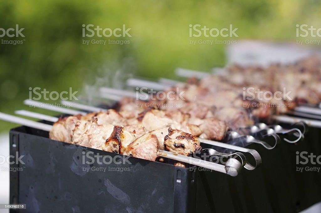 Shish kebab royalty-free stock photo