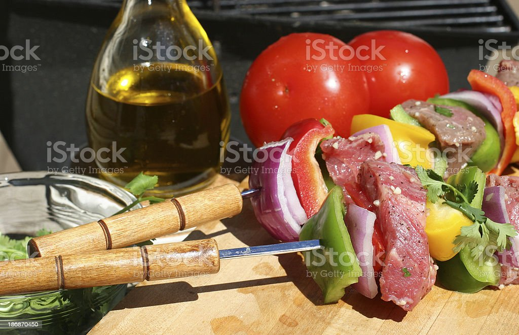 Shish Kebab royalty-free stock photo