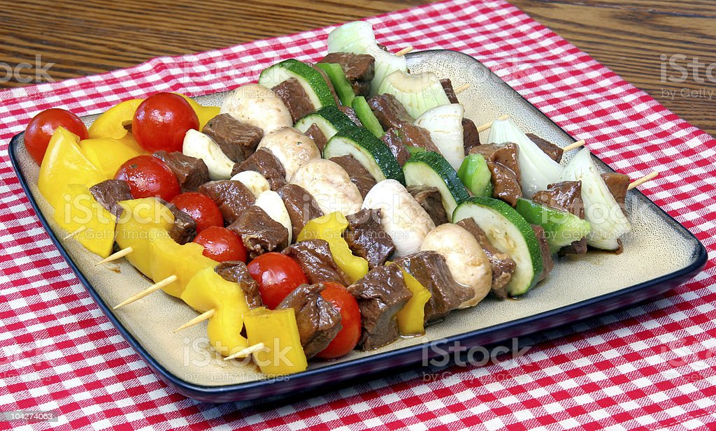 Shish kebabs royalty-free stock photo