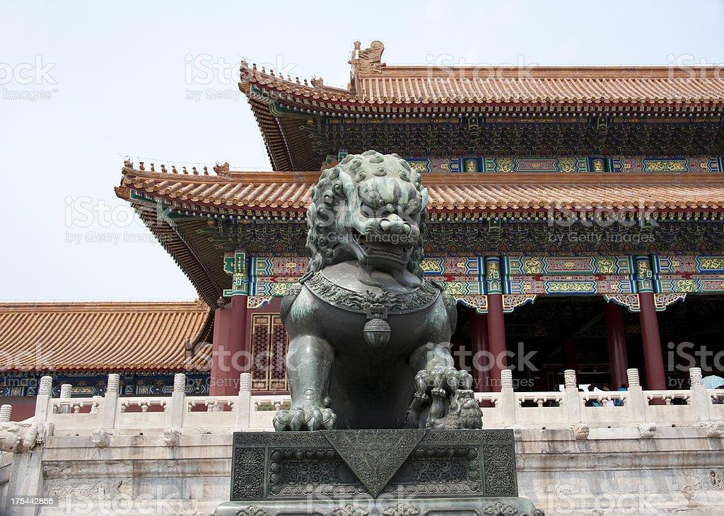 Shishi, Bronze Lion, Forbidden City stock photo