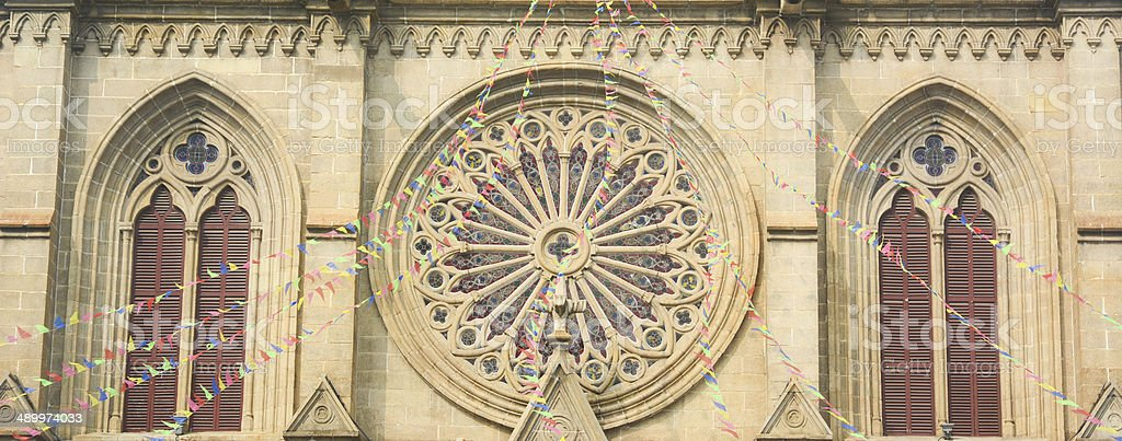 Shishi Sacred Heart Cathedral in Guangzhou,China. stock photo