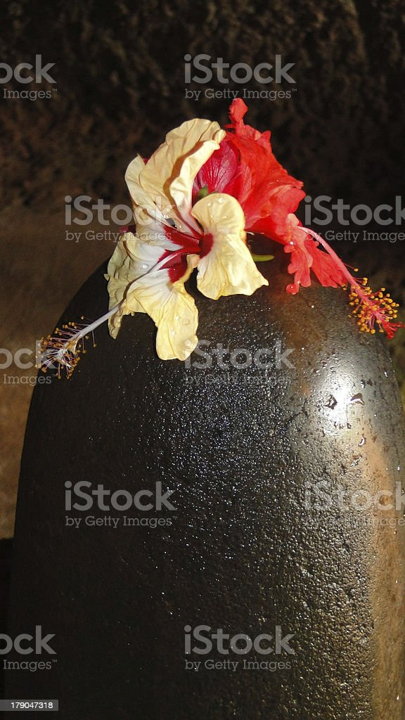 Shiv ling at temple royalty-free stock photo