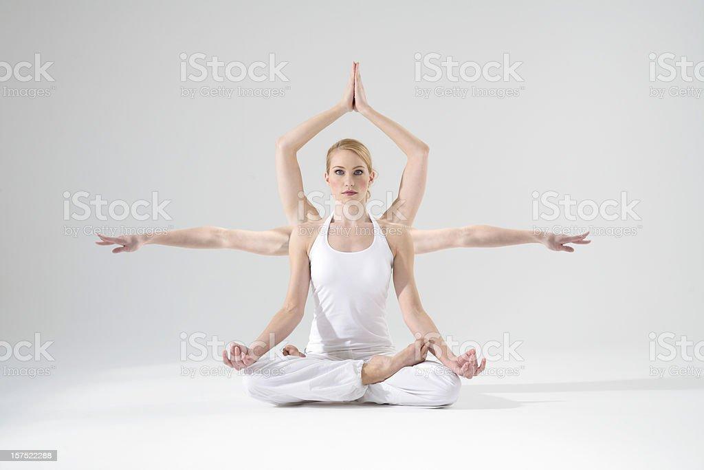 Shiva bei meditation royalty-free stock photo