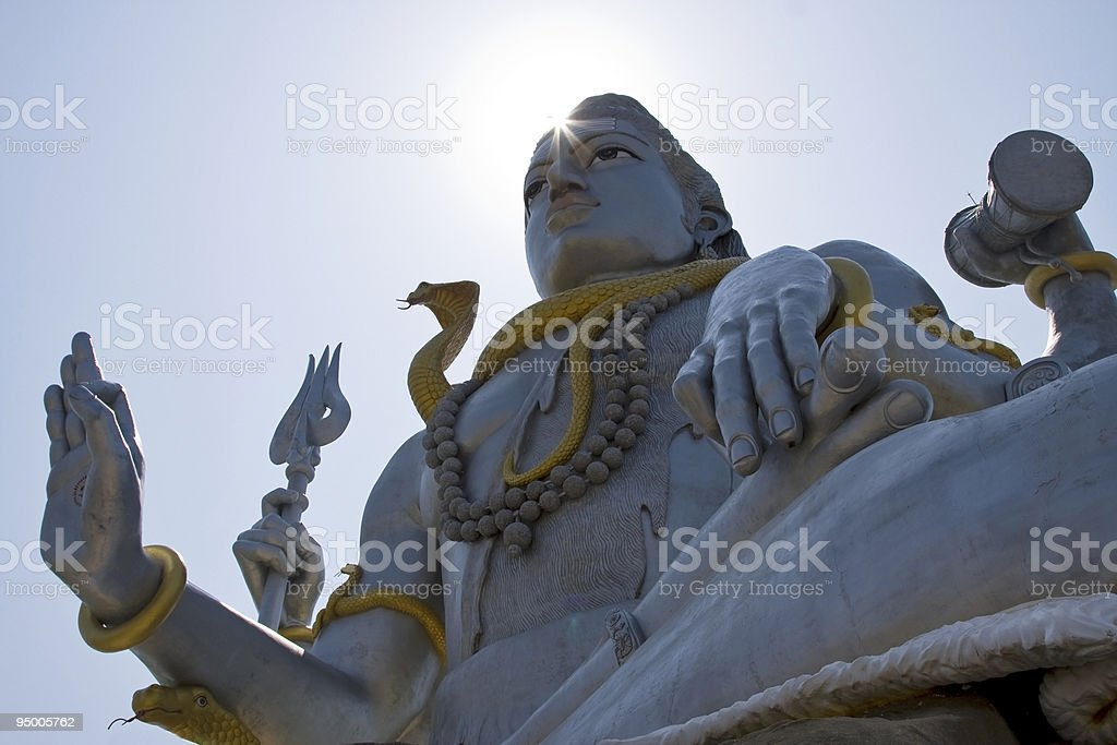 Shiva enlightenment concept stock photo