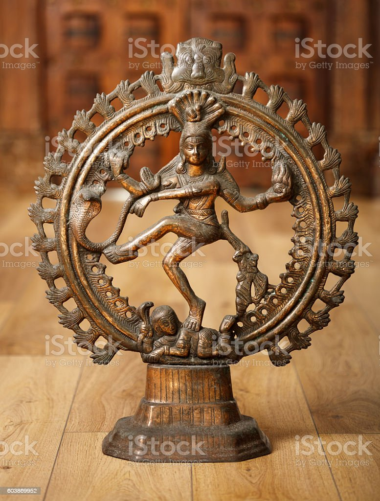 Shiva god statuette stock photo