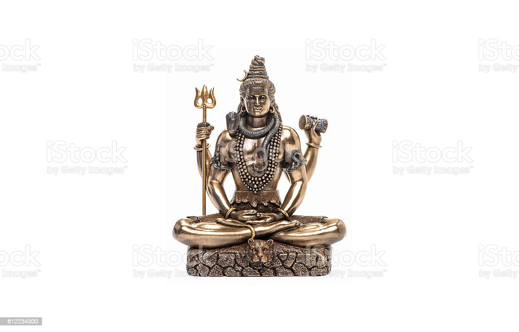 Shiva God, the Hindu deity, the Supreme God in shaivism stock photo