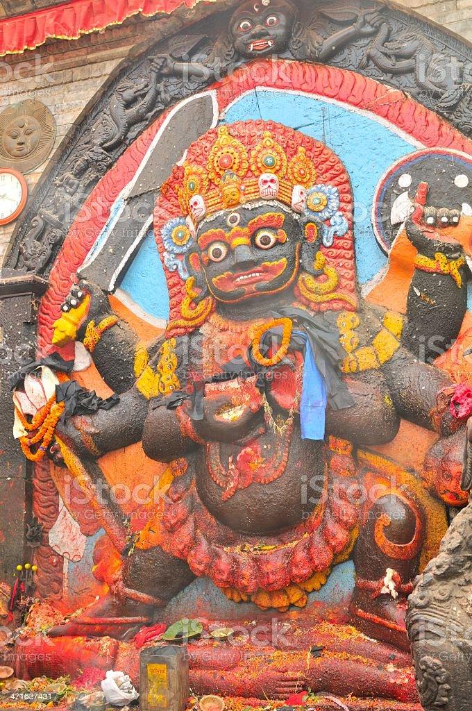Shiva in Durbar Square, Kathmandu, Nepal royalty-free stock photo