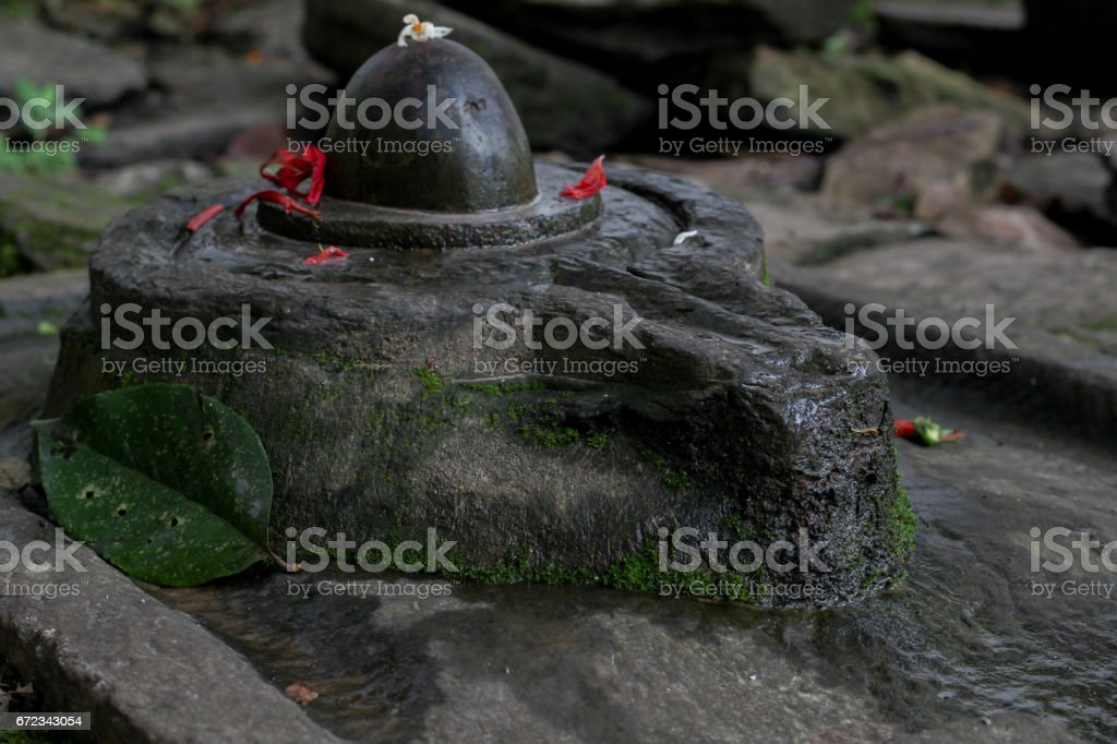 Shiva Linga stock photo