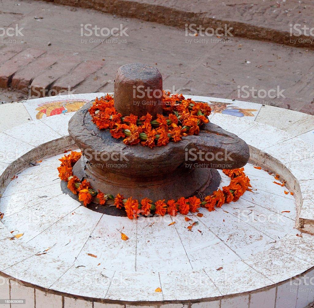 Shiva lingam Kathmandu royalty-free stock photo