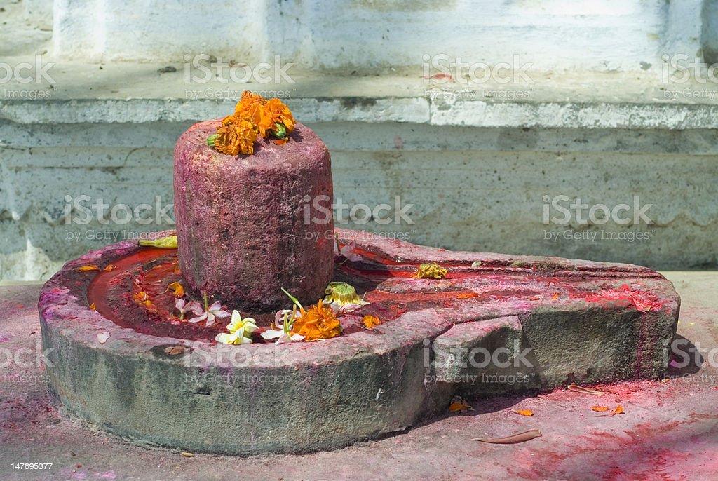 Shiva lingam royalty-free stock photo