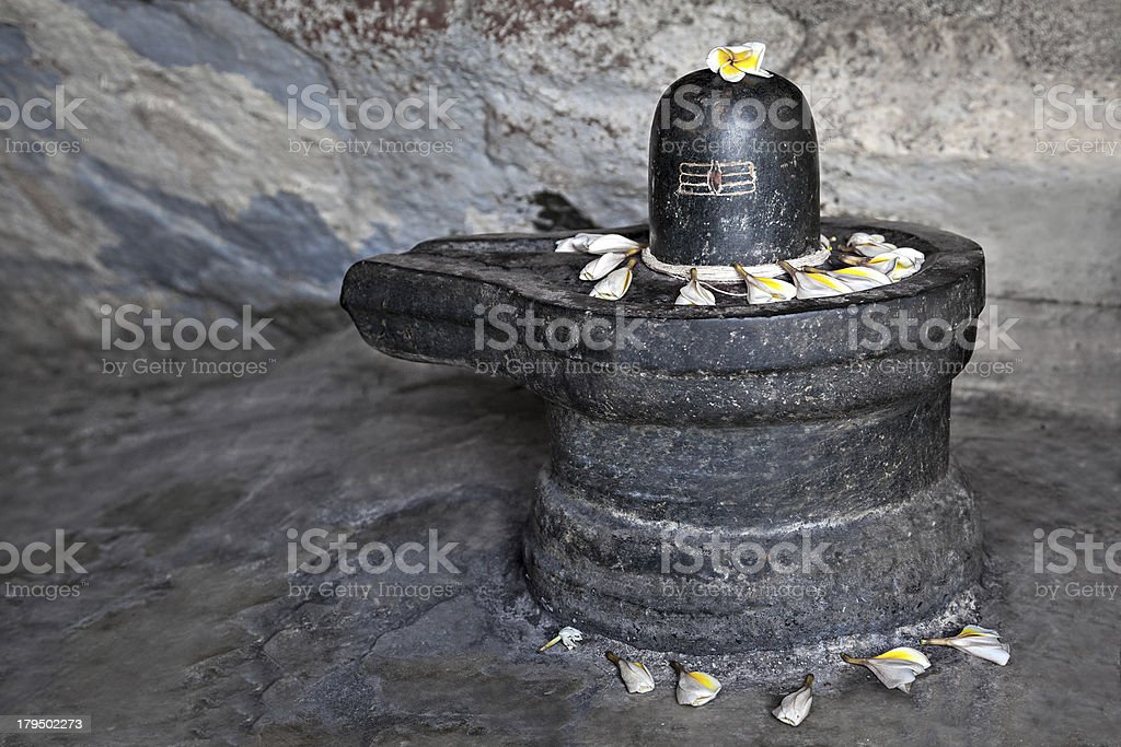Shiva lingam stock photo