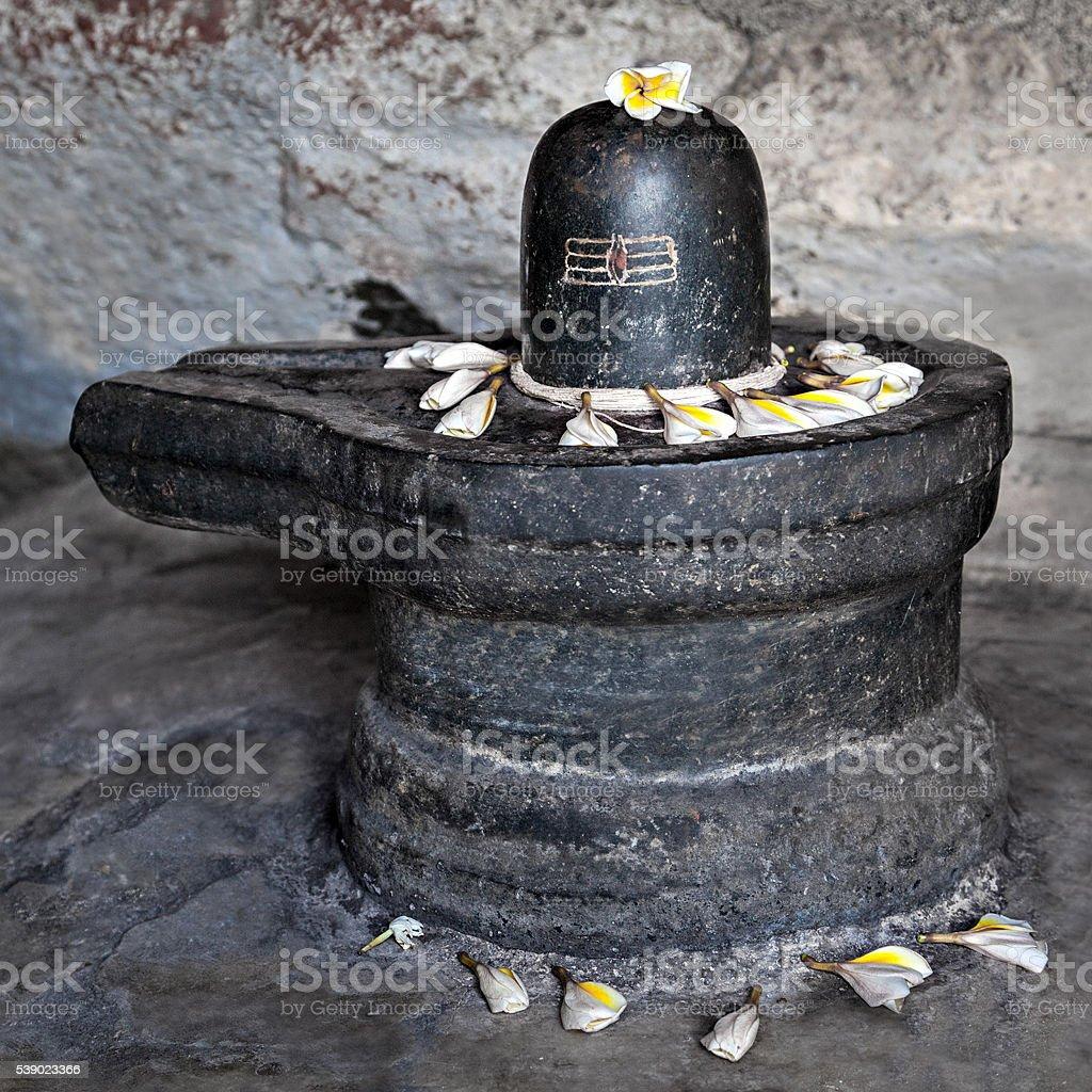 Shiva lingam stock photo