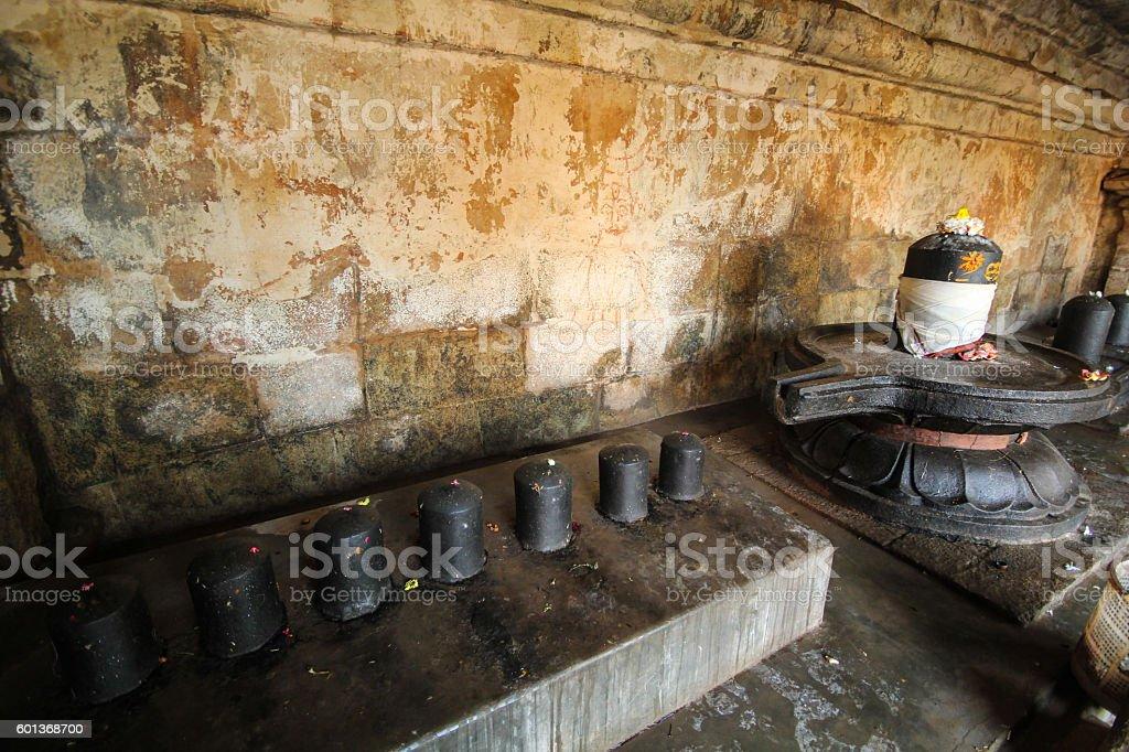 Shiva Lingas seen at Tanjavur Brihadeshwara Temple,TamilNadu. India stock photo