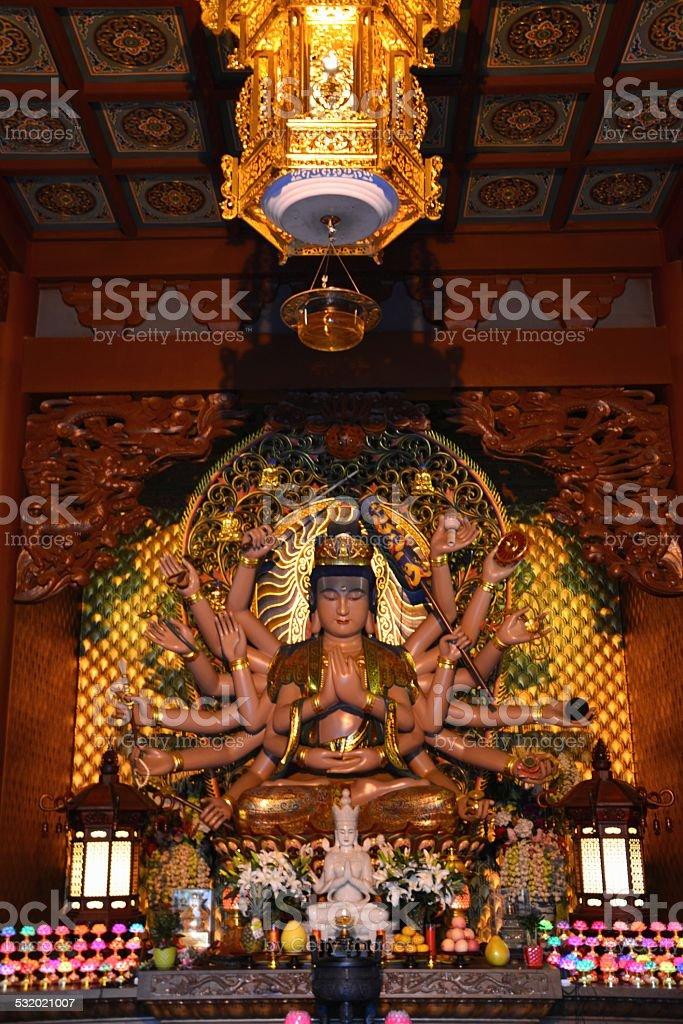Shiva, Lingyin temple complex Hangzhou China stock photo