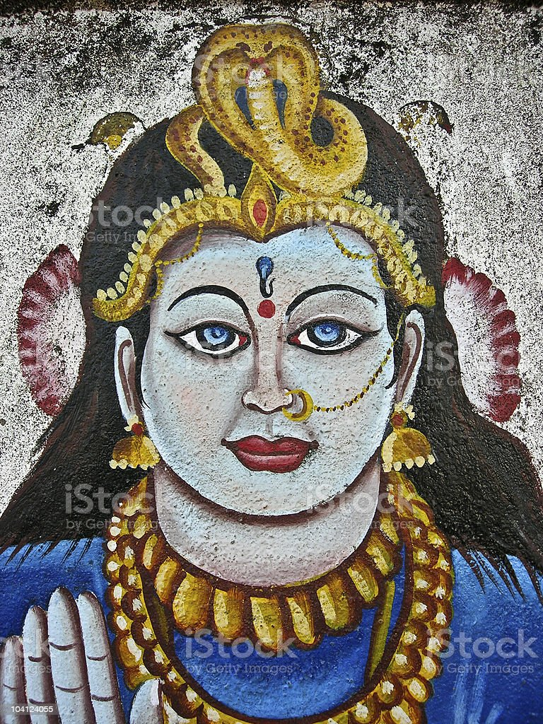 Shiva mural, hampi, karnatka, india. royalty-free stock photo