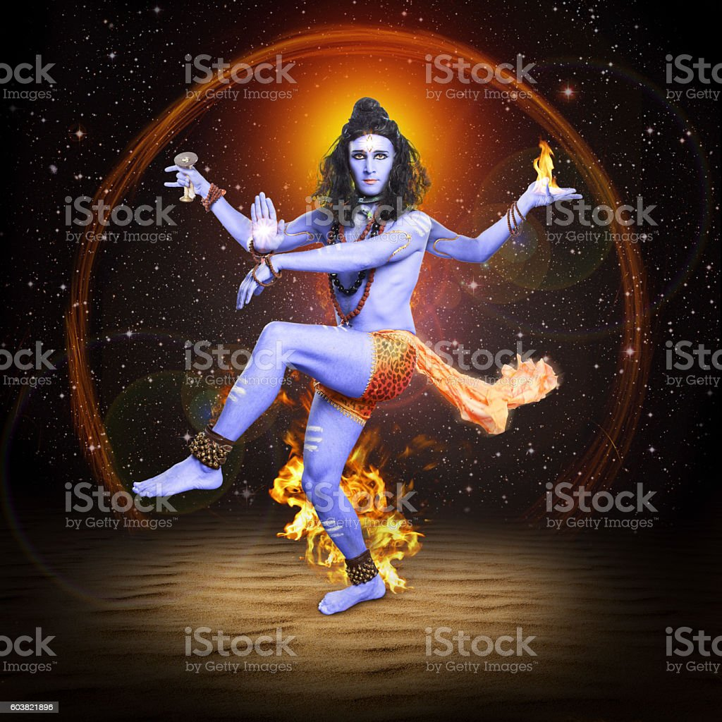 Shiva Nataraja, hindu god, Lord Siva in dancing pose. stock photo