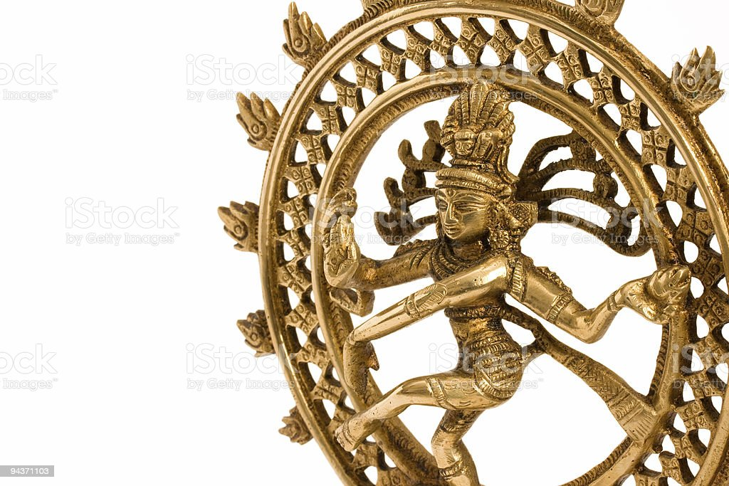 Shiva Nataraja - Lord of Dance close up stock photo