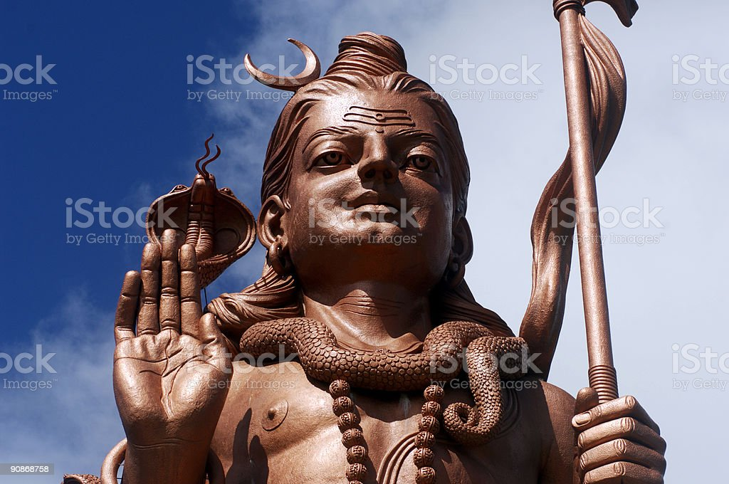 shiva statue 1 stock photo