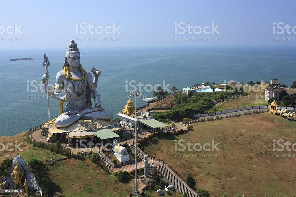 Shiva Statue in India. royalty-free stock photo