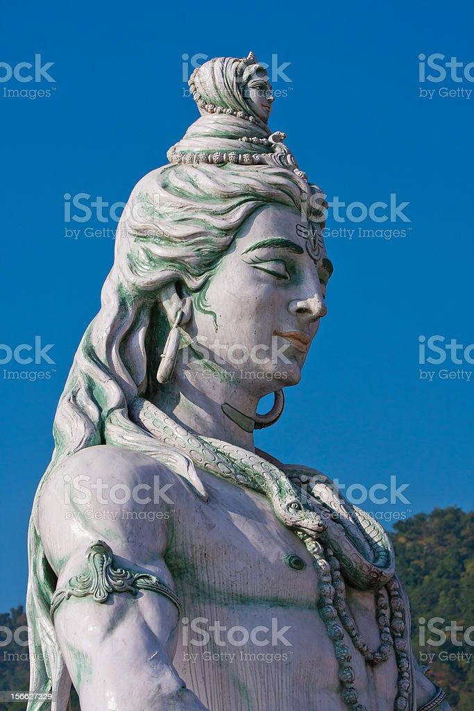 Shiva statue in Rishikesh, India royalty-free stock photo