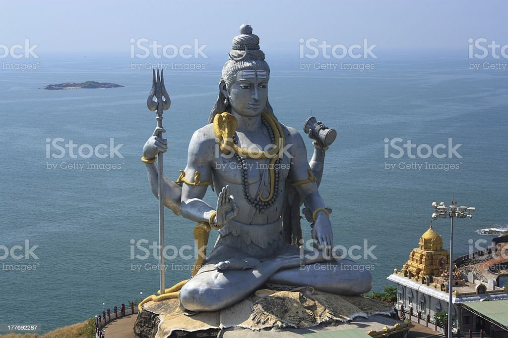 Shiva Statue, India. royalty-free stock photo