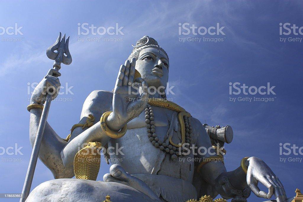 Shiva Statue, India. royalty-free stock photo