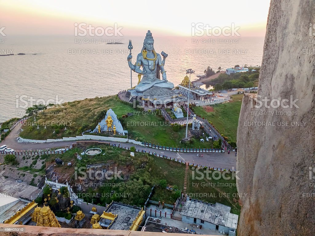 Shiva statue, Murudeshwar, Karnataka, India stock photo