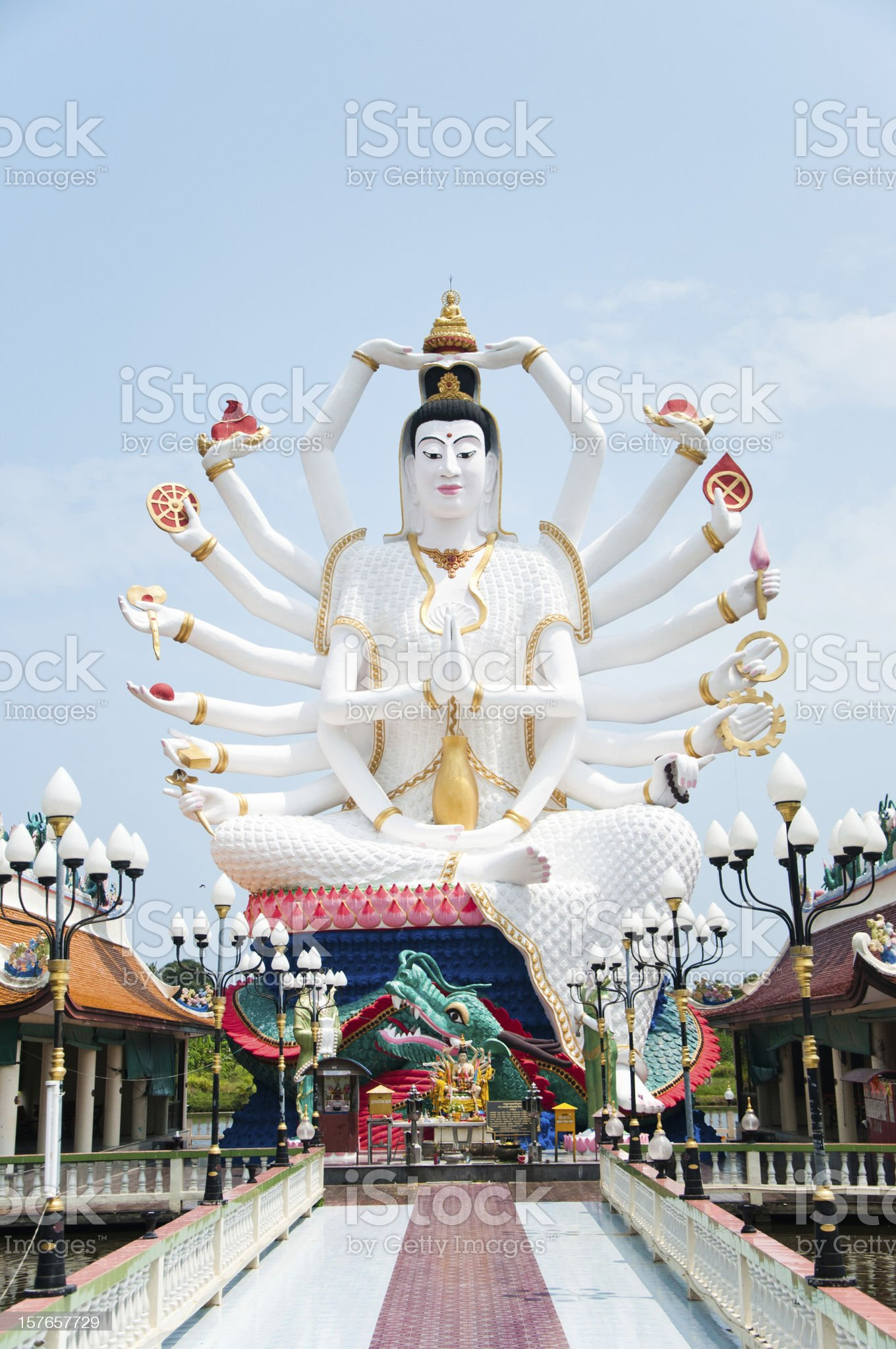 Shiva statue on koh samui royalty-free stock photo
