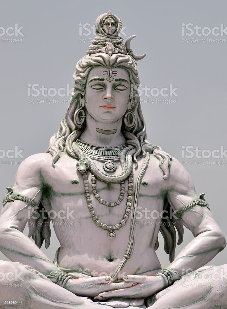 Shiva statue stock photo