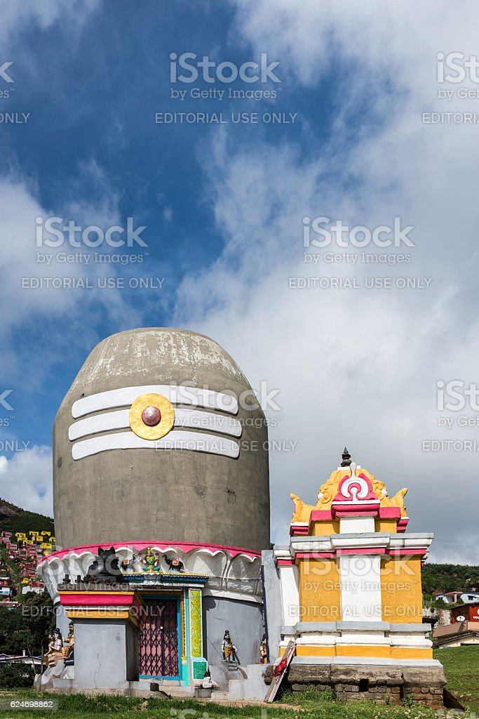 Shivalingam shrine near village of Valparai. stock photo