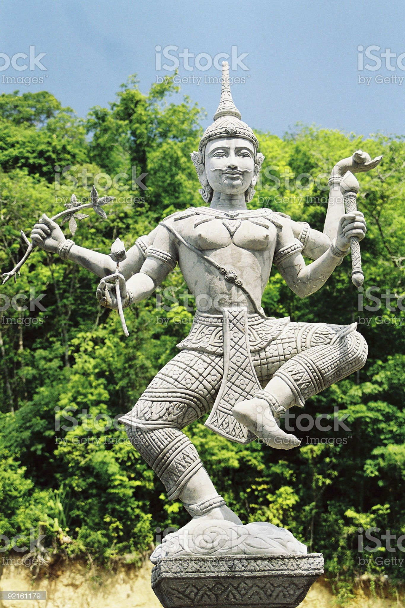 Shiva's Statue royalty-free stock photo