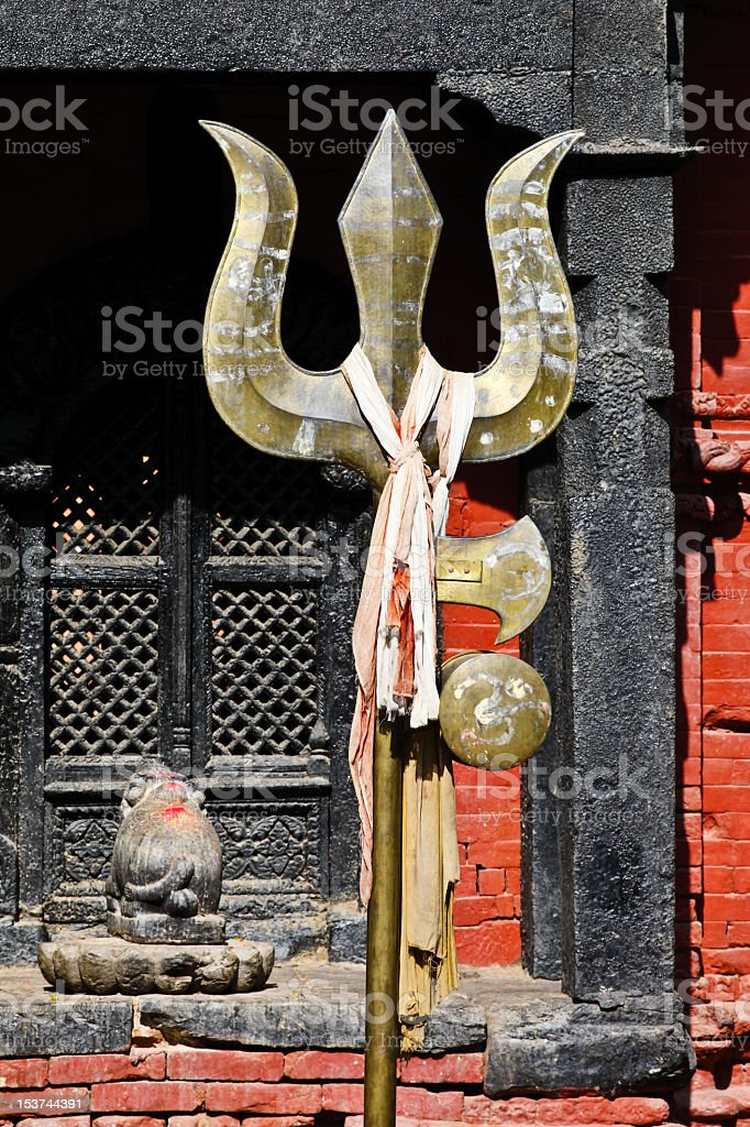 Shiva's trident royalty-free stock photo