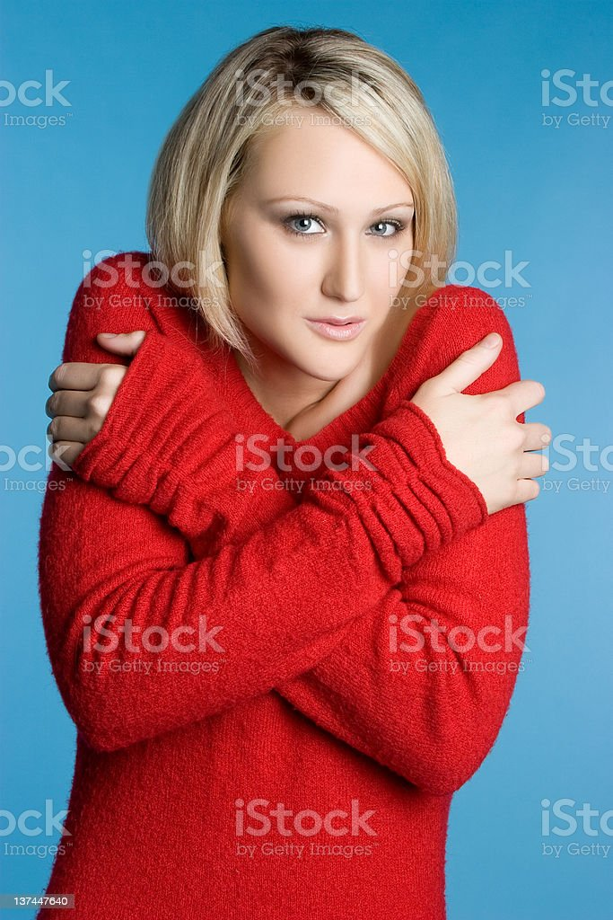 Shivering Woman royalty-free stock photo