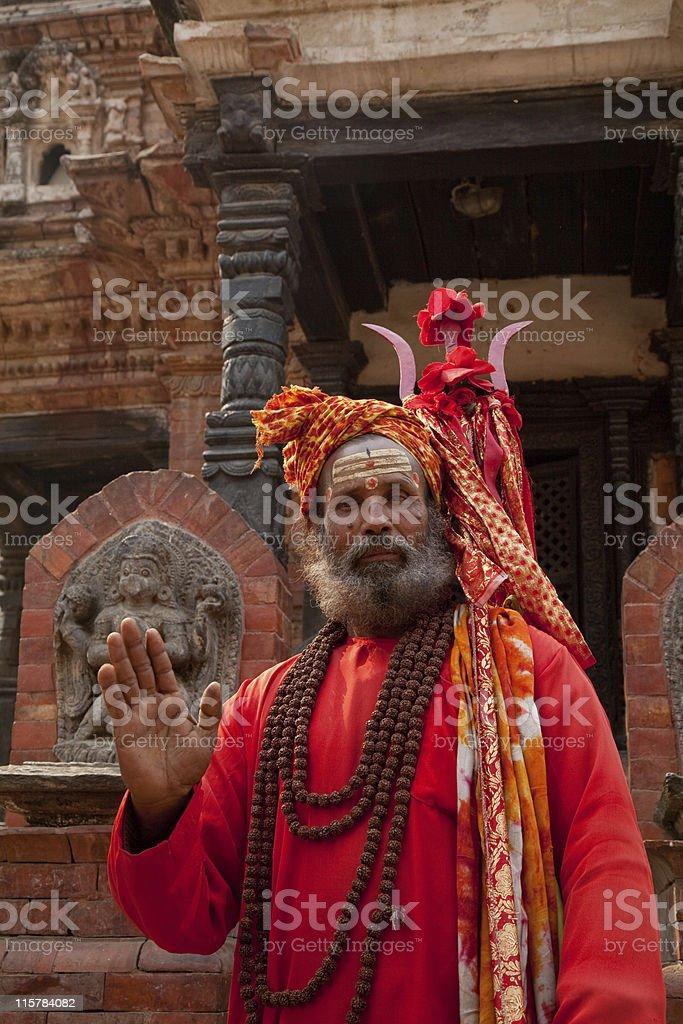 Shivite Sadhu Nepal royalty-free stock photo