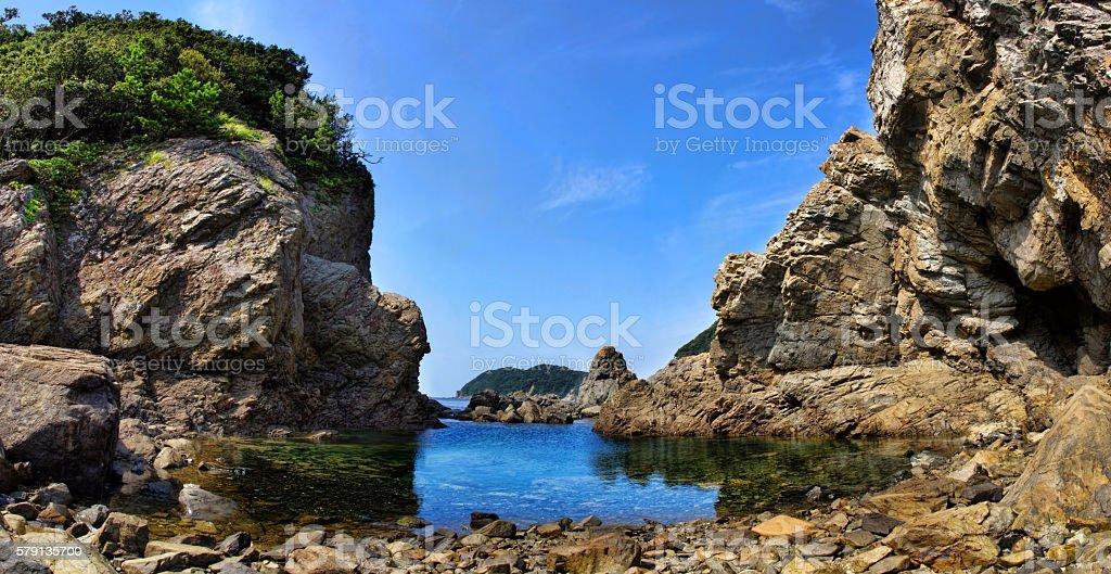 Shiwaki beach stock photo