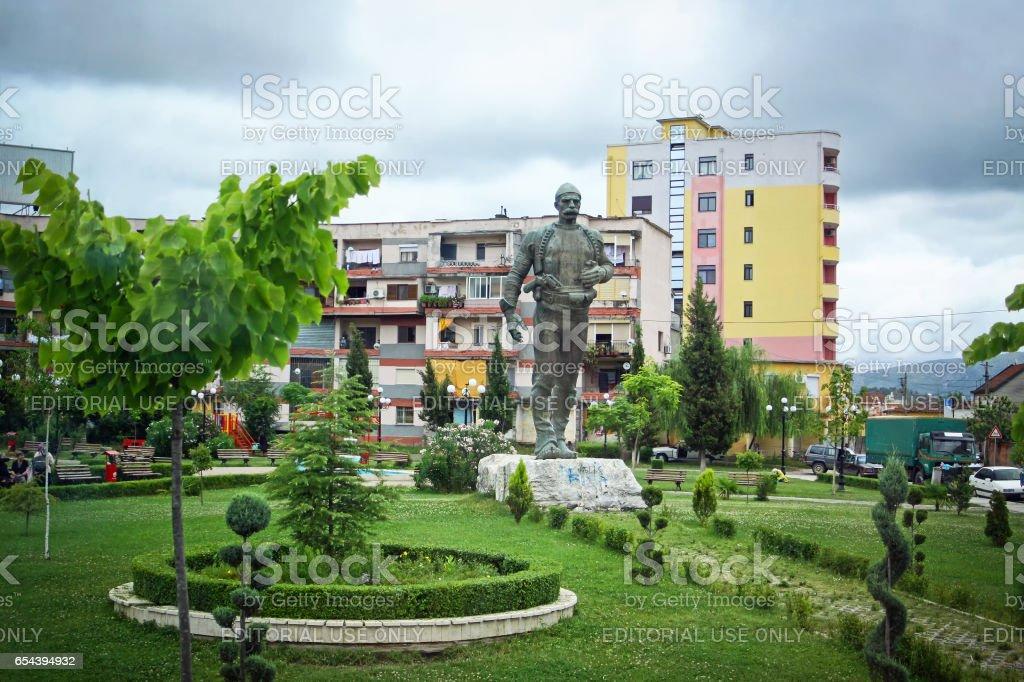 Shkoder city, Albania stock photo