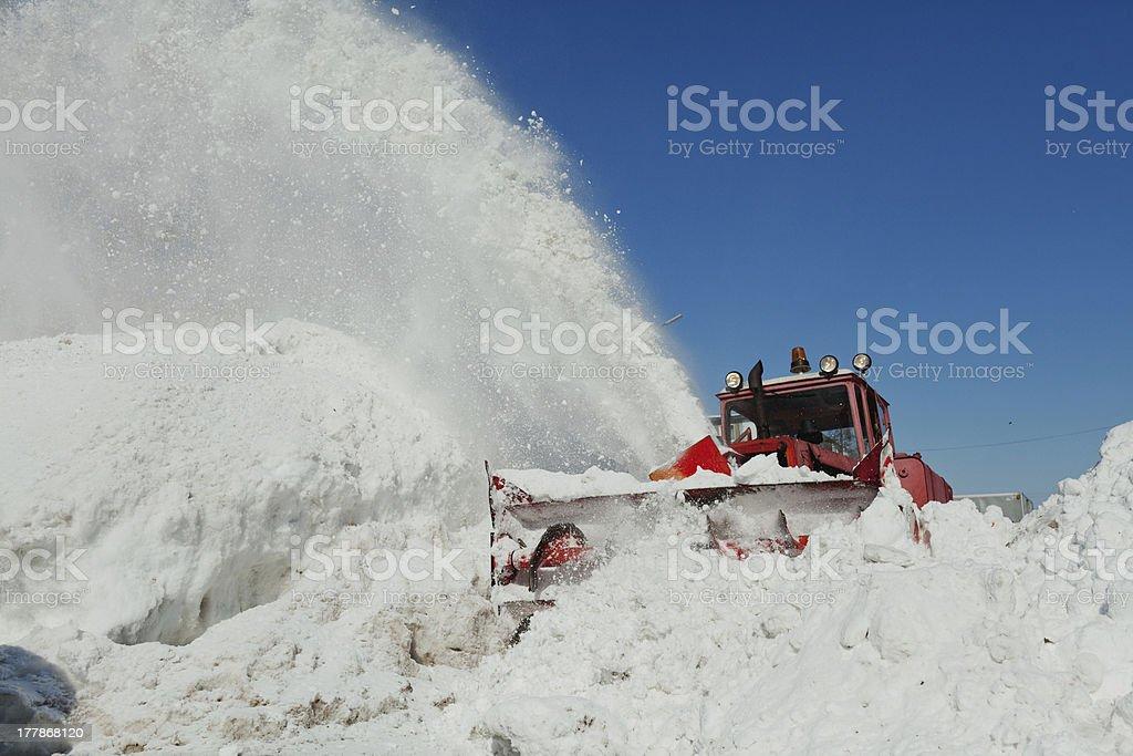 shnekorotor removes snow royalty-free stock photo
