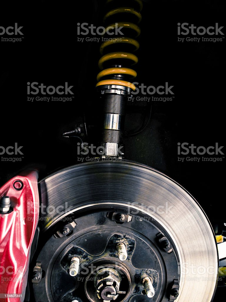 shock absorber and brake stock photo