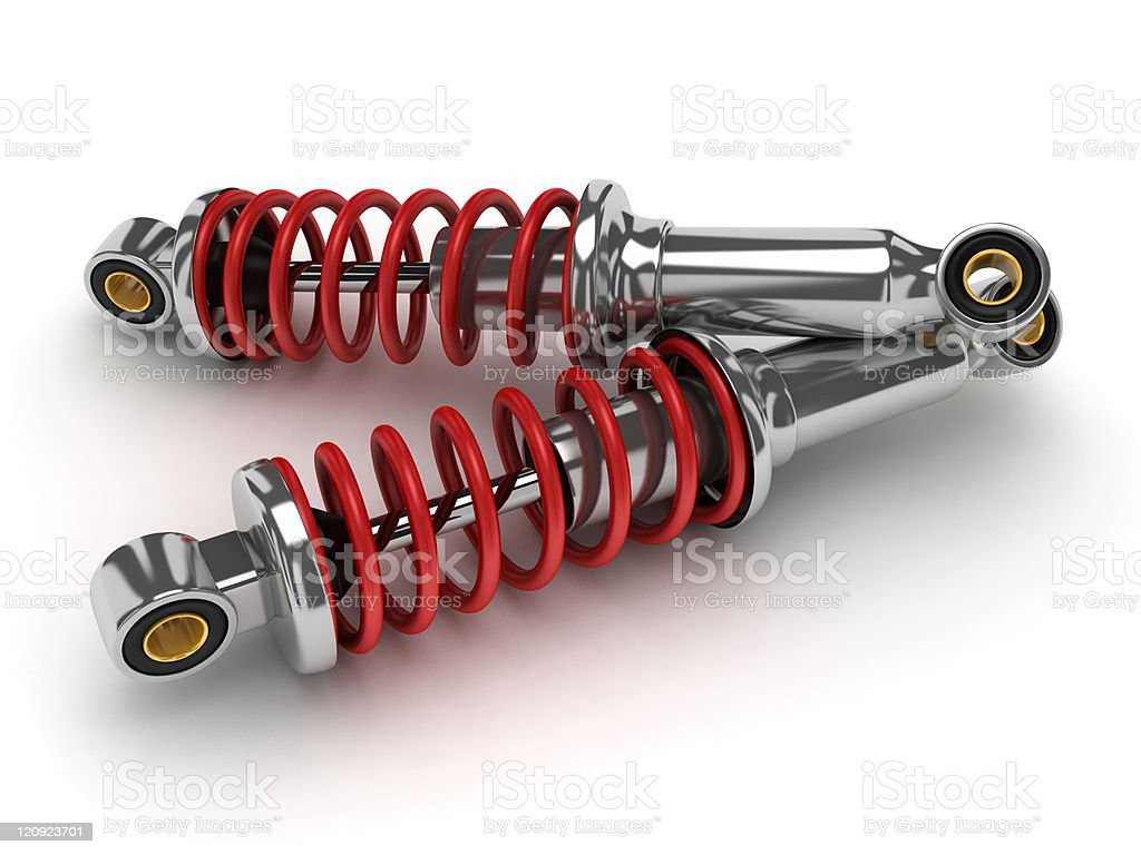 shock absorber car stock photo