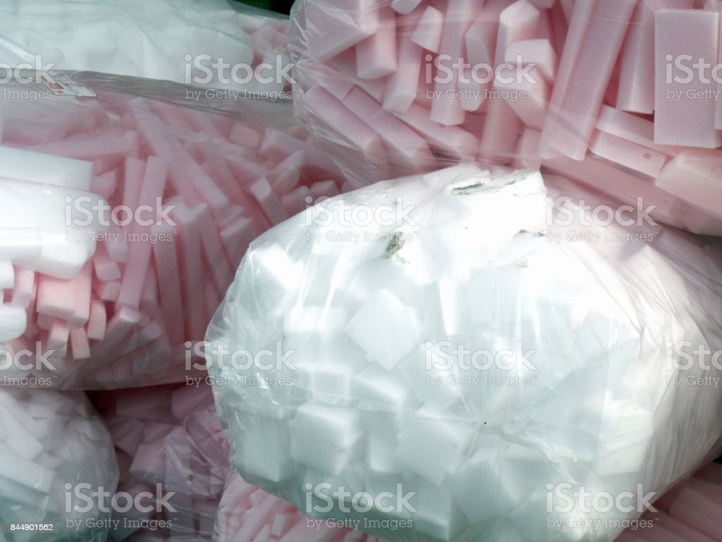 Shock stop packing supplies stock photo