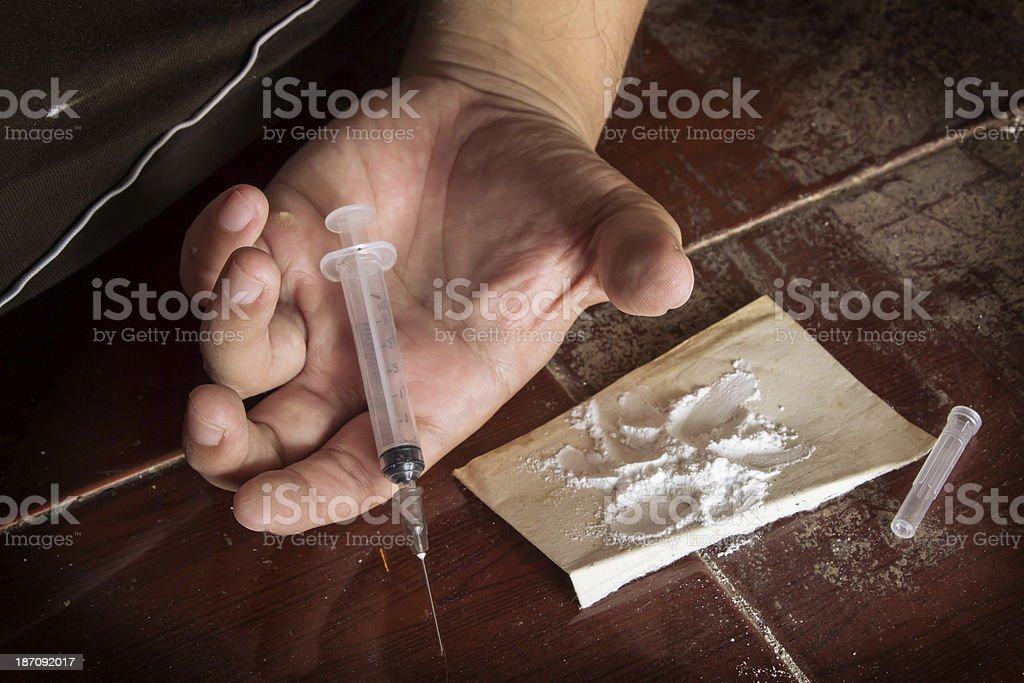 Shock with drug. royalty-free stock photo